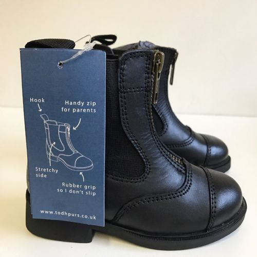 Todhpurs Zip Fronted Jodhpur Boots in Black